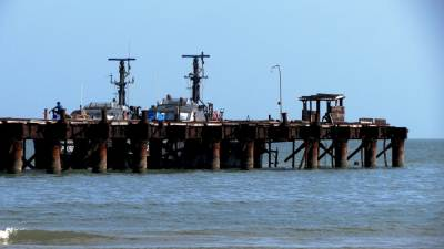 Thalaimannar Pier. This old one is used by Navy. They usually don't allow visitors to go there now as it is risky.