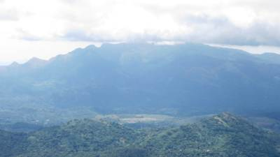 Knuckles mountain range. Opalgala (ඕපල්ගල) is seen