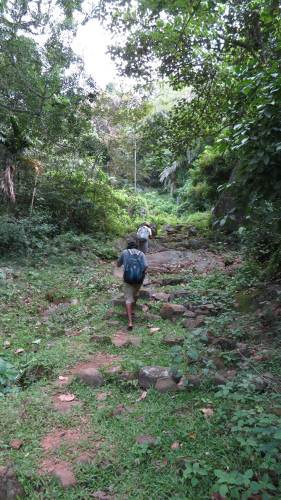 Starting the foot pathway from Narangamuwa to Meemure