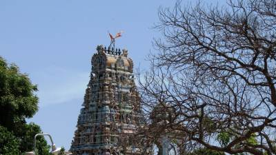 Thiruketeeswaram Kovil. Photographs not allowed inside