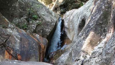 Fourth waterfall. It is situated on the left hand side of the main stream
