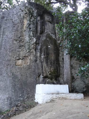 Gigantic rock carving of Lord Buddha