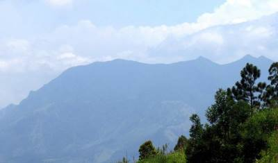 view from the summit where the tea estate is found