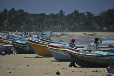 Fishing boats in Potuvil