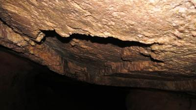 Solid roof of the cave