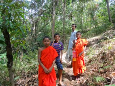The team, from left: Rev. Deepananda Thero, Udara, Suddha and Rev. Chandananda Thero
