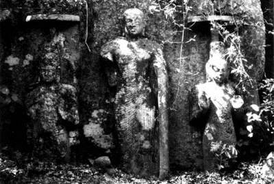 The trio of statues were in very good state when the Japanese discovered it