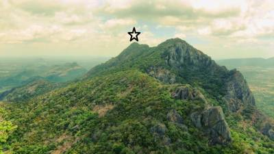 Erawulagala. I have reached to highest point of it shown by the star. (Refer trip report). Note there is a huge gap between Gal Koth Kanda and Erawulagala. So these two are different peaks