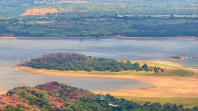 Kandalama Lake and it's island. Now it is connected to main land