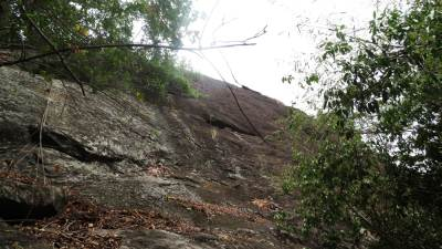 This was initial rock and we went on left hand side of it