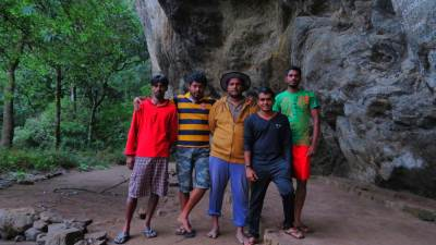 Five in the journey. Left and right hand fellows are our trekkers