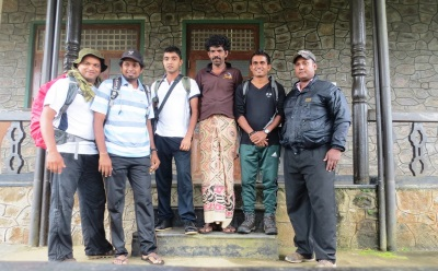 Team with Thilakasiri –Man in saron
