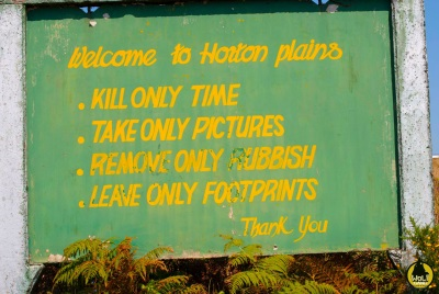 Horton Plains Entrance Permit can be obtained at the visitor center.