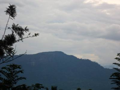 Kiribathgala range as seen from Doloswala kanda in Nivithigala