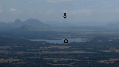 Black star-Mapakada Lake. Black arrow shows Friar's hood.