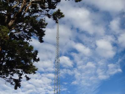 Comms tower at Farr Inn