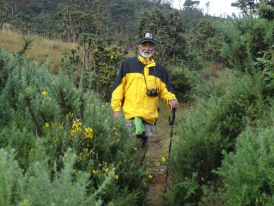 Ana among the thorny Ulex Plants... (note the GoPro Camera he's wearing)