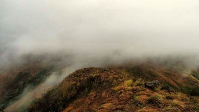 mist passing from the cooler badulla district to warmer monaragala