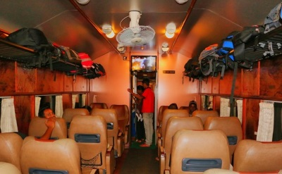 Inside Rajadhani compartment