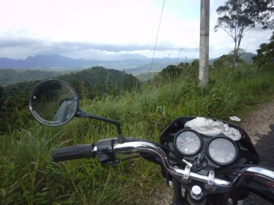 My Bike and view from the road