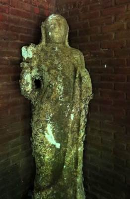 statue found on a privet property could be seen at the budugala arche office