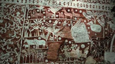 Kottimubulwala cave temple paintings