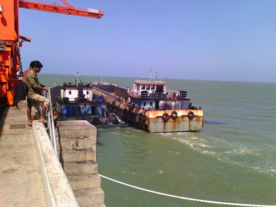 Indian barges at work