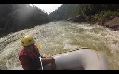 Since we couldn't finish the River bordering tour, we thought of taking a river rafting tour.