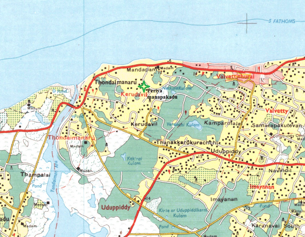 Map around Thondaimanaru - click to enlarge