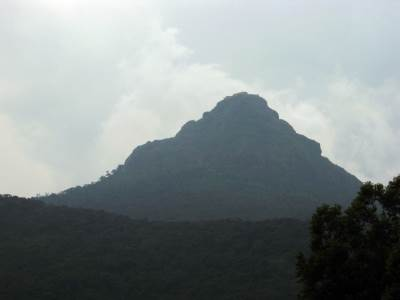 View of the Adam's peak from Gangulathenna