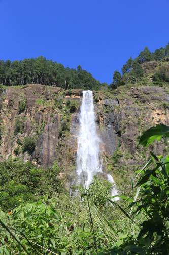 Front view of the waterfall