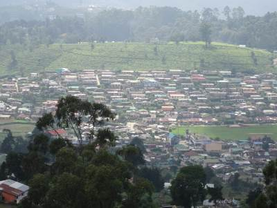 View of the Boralanda Town and houses in many colors
