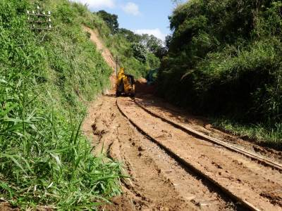 JCB on railway lines