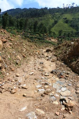 Following land slide