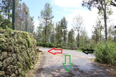 Directions following Need Wood factory.  Black arrow from Need wood side and red arrow shows Idalgashinna road. Green arrow shows the way we followed.