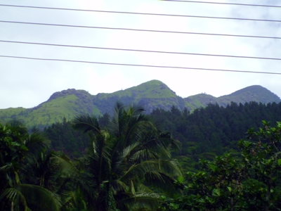 Adarakanda Range as seen on main road 1 (Zoomed)