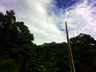 Adarakanda Range as seen on main road 2