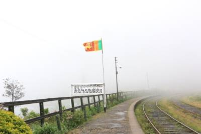Idalgashinna-highest railway station in Sri Lankan railway line. Waiting to celebrate Independent day