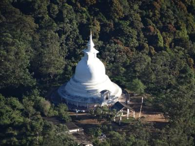 Peace Pagoda below