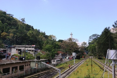 Dawson Tower,  Kadugannawa Railway line and Kandy-Colombo road
