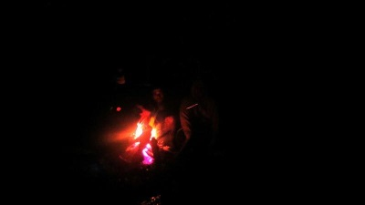 Camp fire did not last long due to heavy drizzle…..