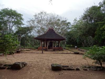 The structure reconstructed by the archaeological officers