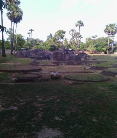 The Stupa complex at Kandaragoda