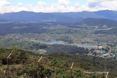 Nuwara Eliya from just below the summit