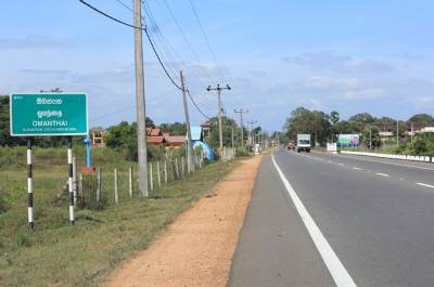 Omanthai, Border of former LTTE controlled area
