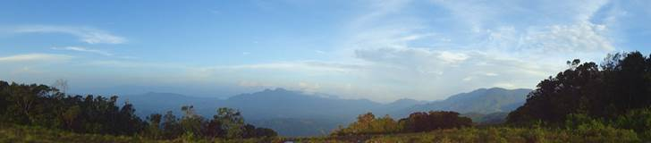Pano towards to Pettiyagala kanda