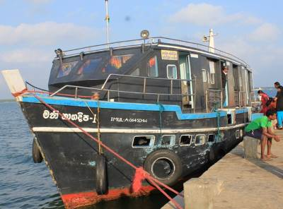The boat we travelled to Nagadeepa