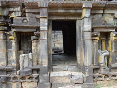 Inner chamber where Siva Lingam is