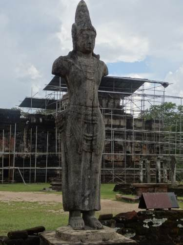 Not clear whether this is King Nissanka Malla or a Bodhisattva Statue