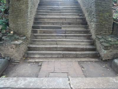 Bottom of the steps